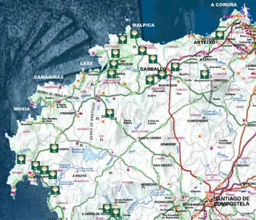 Mapa Costa Da Morte.Costa Da Morte Hoteles Casas Rurales Galicia Spa Costa De La